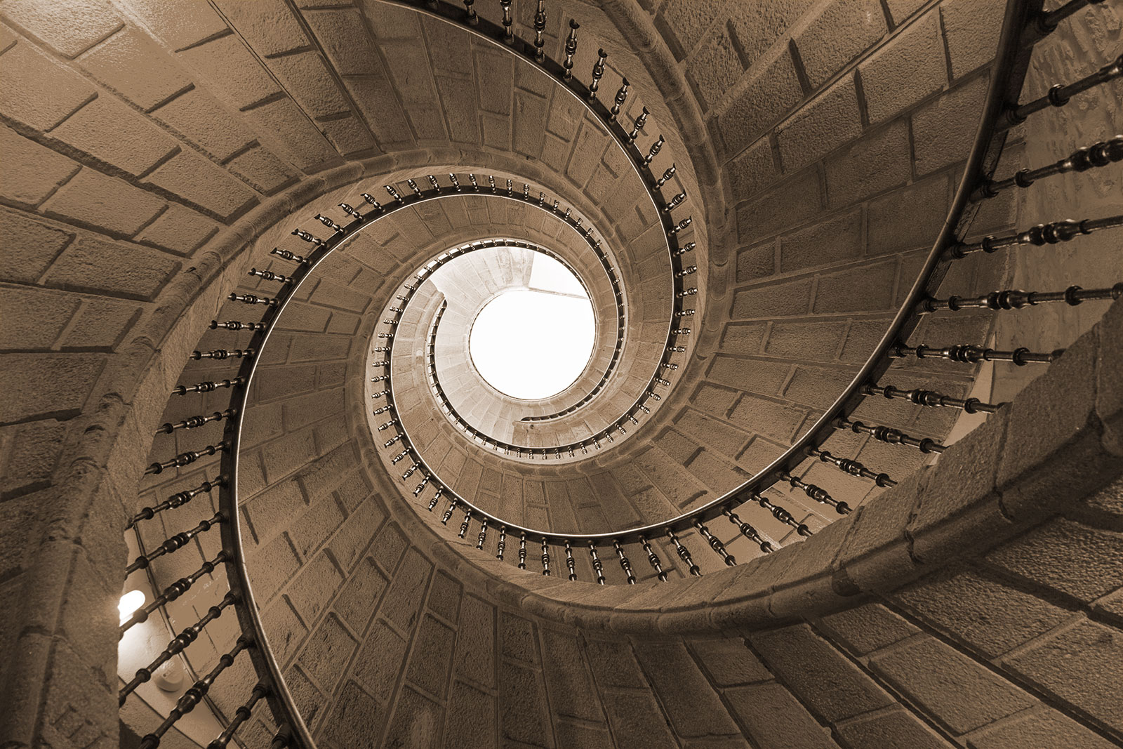 Leadership Development – Spiral staircase, seen from below